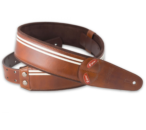Right On Straps MOJO Race Brown Guitar Strap