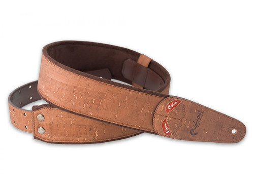 Right On Straps MOJO Cork Brown Guitar Strap