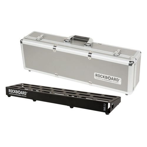 RockBoard® DUO 2.2 Pedal Board with Flight Case
