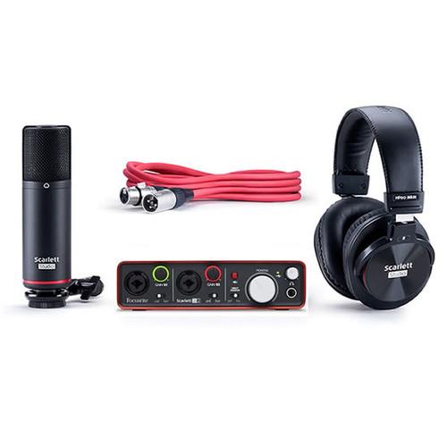 Focusrite Scarlett 2i2 Studio Complete Recording Package