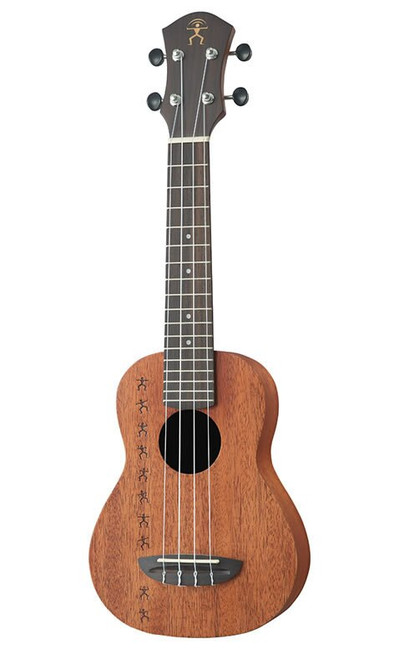 aNueNue Papa All Solid Soprano Acoustic/Electric Ukulele