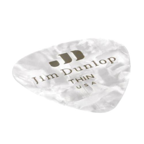 Jim Dunlop White Pearloid Genuine Celluloid Pick