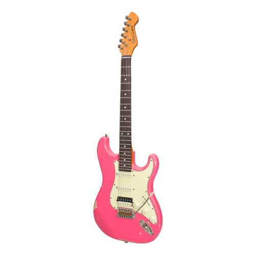 Tokai Legacy Pink ST-Style HSS 'Relic' Electric