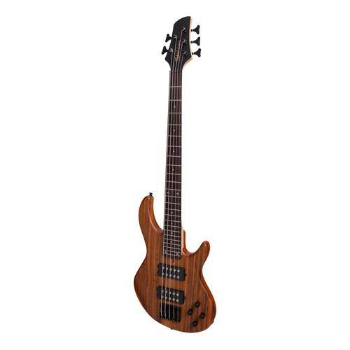 Tokai 'Legacy Series' 5-String Mahogany & Zebrano T-Style Bass - Natural Satin