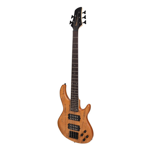 Tokai 'Legacy Series' 5-String Mahogany & Spalted Maple T-Style Bass - Natural Satin