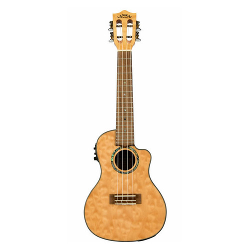 Lanikai Quilted Maple Natural Concert Acoustic/Electric Ukulele