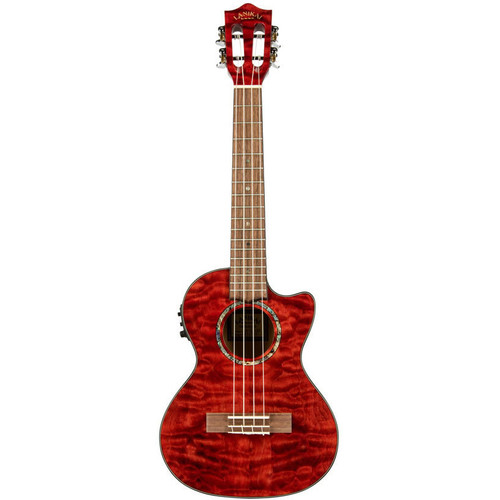 Lanikai Quilted Maple Red Stain Tenor Acoustic/Electric Ukulele