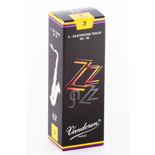 Vandoren ZZ jaZZ Tenor Saxophone Reeds - Box of 5