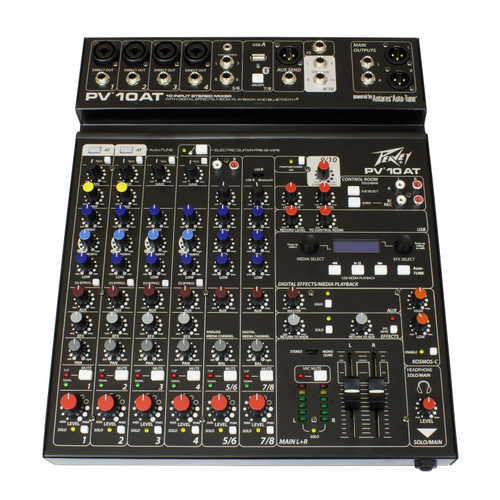Peavey PV® 10AT 10 Channel Mixer with Bluetooth and Antares® Auto-Tune