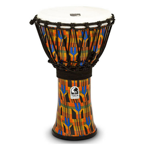 "Toca Freestyle 2 Series Djembe 9"" in Kente Cloth"
