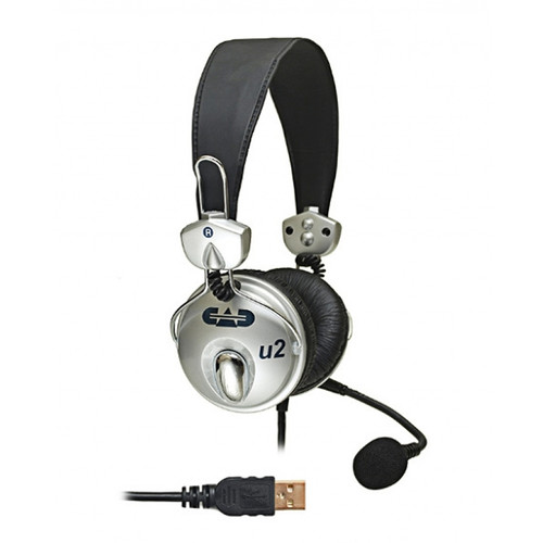 CAD U2 USB Stereo Headphones with Microphone - 6ft USB Cable