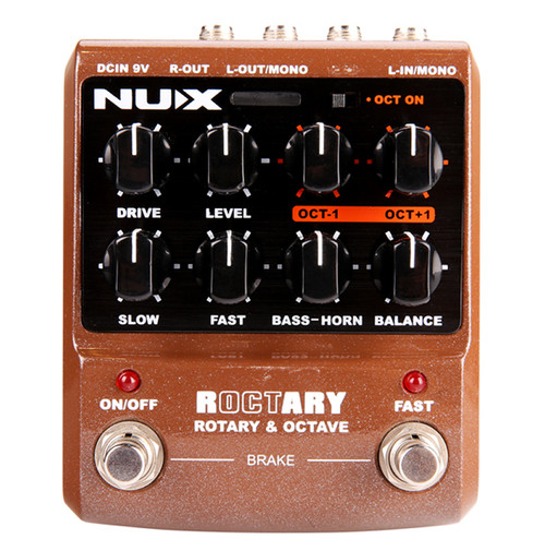 NU-X Roctary Rotary and Poly-Octave Effects Pedal