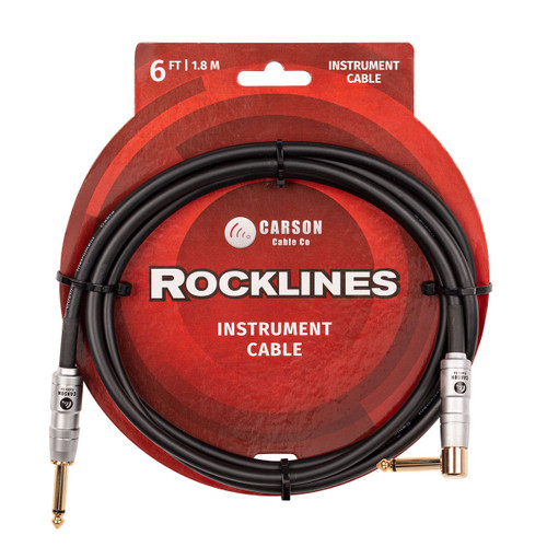 Carson Rocklines 6 foot Noiseless Guitar Cable