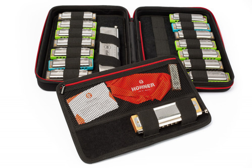 Hohner FlexCase L Harmonica Case - Holds up to 18 Harmonicas