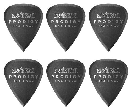 Ernie Ball 1.5mm Black Standard Prodigy Picks 6-Pack