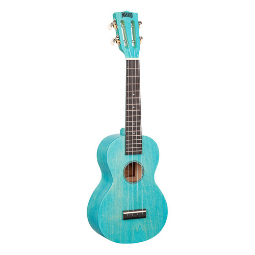 Mahalo Aqua Blue Island Series Concert Ukulele