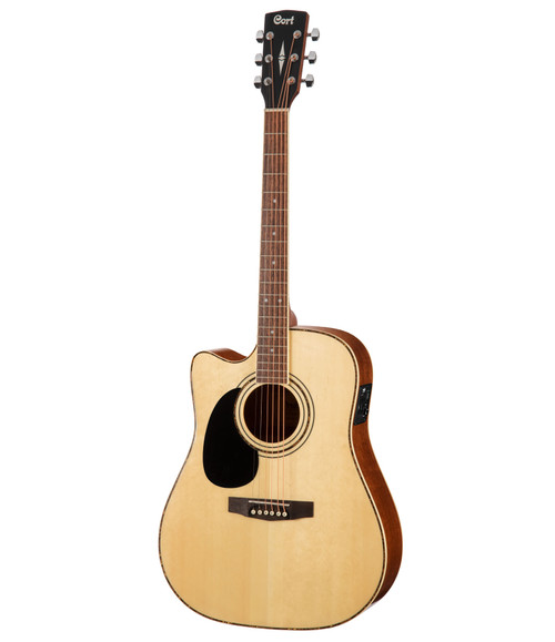 Cort AD880CE Left-Handed Acoustic/Electric - Natural Satin