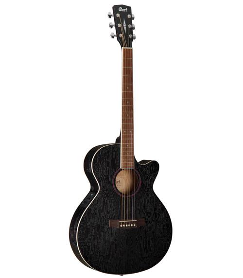 Cort SFX-AB Open Pore Black Ash Burl Acoustic/Electric Cutaway