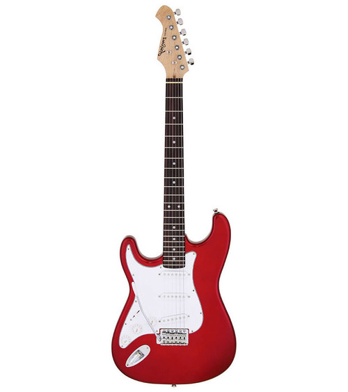 Aria STG-003 Series Left Handed Electric - Candy Apple Red