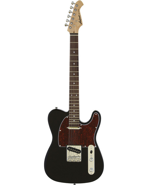 Aria 615 Frontier Series Electric - Black with Tortoiseshell Guard