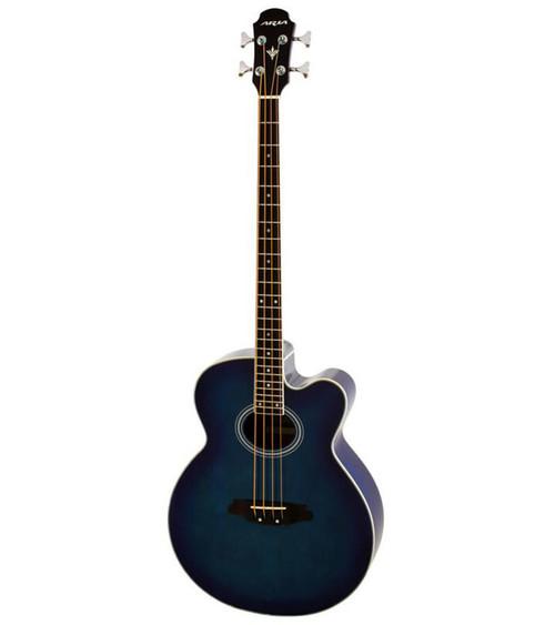 Aria FEB-30M Elecord Series Acoustic/Electric Bass - Blue Shade