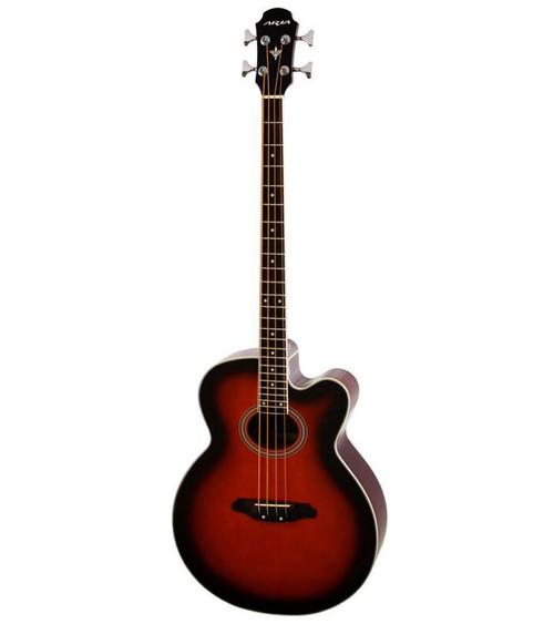 Aria FEB-30M Elecord Series Acoustic/Electric Bass - Brown Sunburst