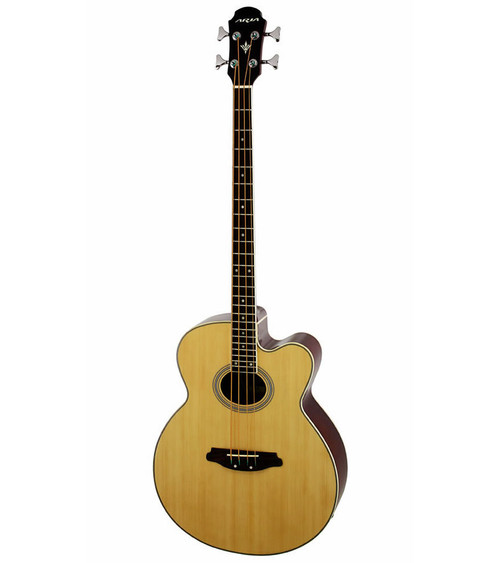 Aria FEB-30M Elecord Series Acoustic/Electric Bass - Natural