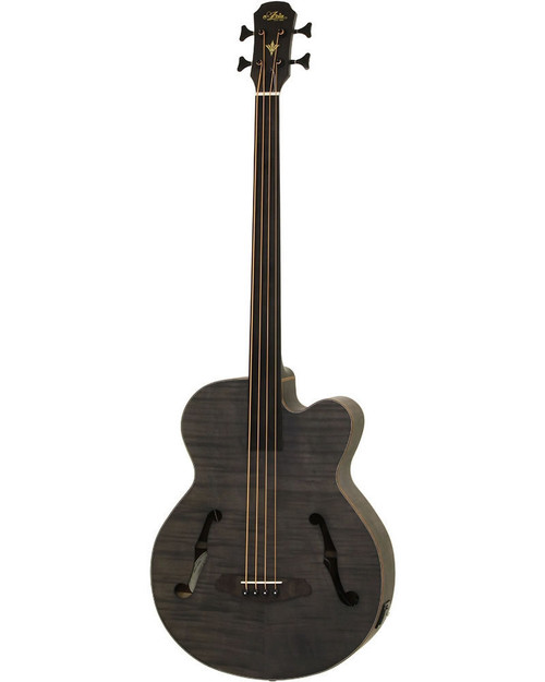 Aria FEB-F2/FL Elecord Fretless Acoustic/Electric Bass - Stained Black