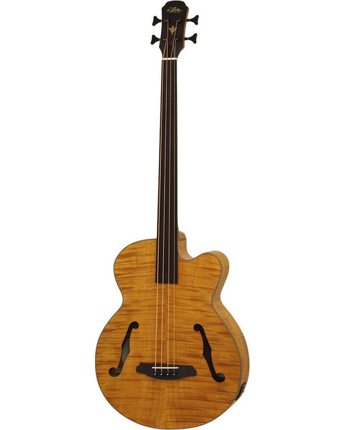 Aria FEB-F2/FL Elecord Fretless Acoustic/Electric Bass - Stained Brown