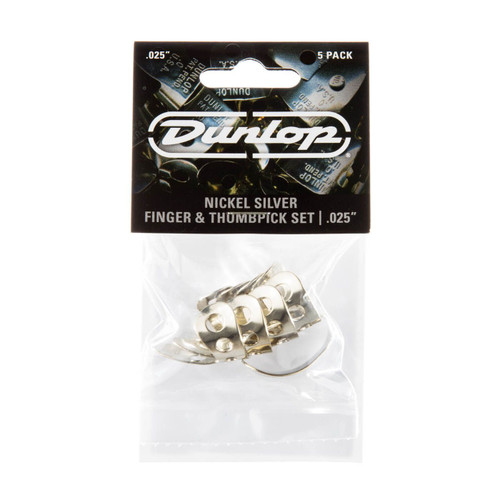 "Jim Dunlop .025"" Nickel Thumb & Finger Pick Players Pack"
