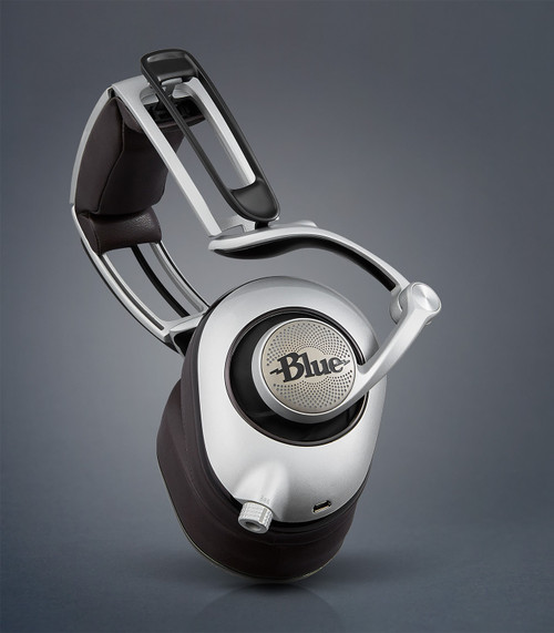Blue Planar Magnetic Headphone with Built-In Amp