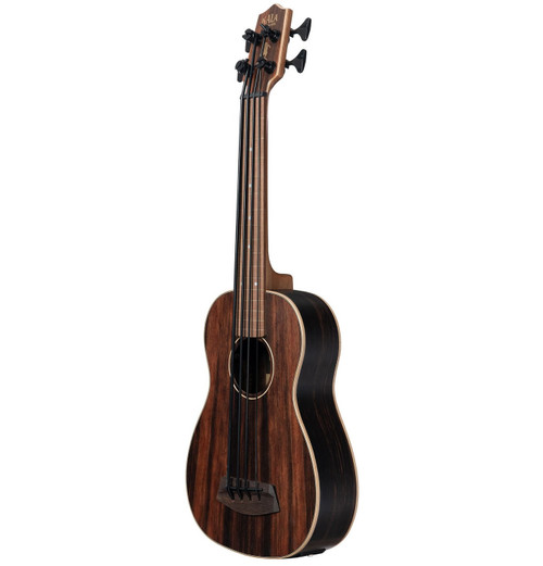 Kala Striped Ebony Fretless Acoustic/Electric U•BASS®