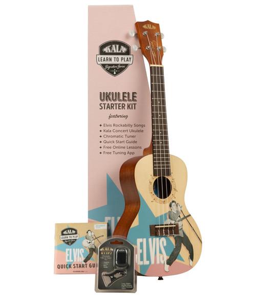 Kala Learn to Play Rockabilly Concert Ukulele Starter Kit