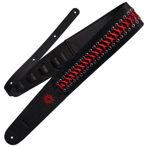 Richter Paul Landers Standard Black/Red Guitar Strap