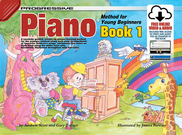 Progressive Piano Method Book 1 for Young Beginners Book