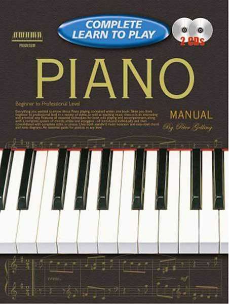 Progressive Complete Learn to Play Piano Manual - Book & 2 CDs