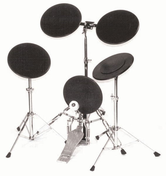 Powerbeat 5 Piece Drum Practice Outfit