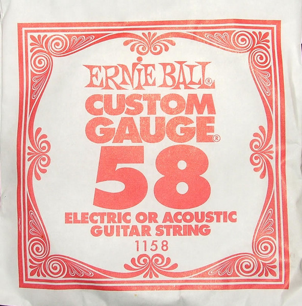 Ernie Ball .058 Wound Single Electric String