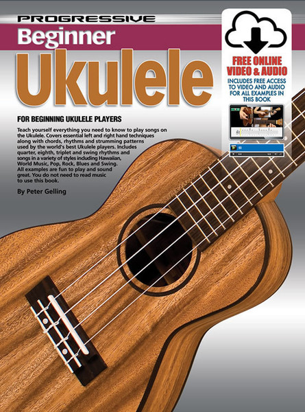 Progressive Beginner Ukulele Book with Online Video & Audio