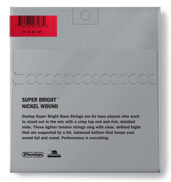 Dunlop Nickel Wound Super Bright 4-String Medium Set