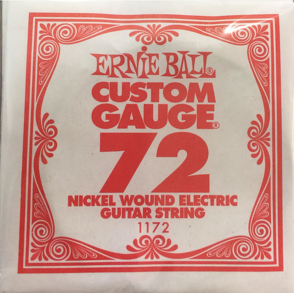 Ernie Ball .072 Wound Single Electric String