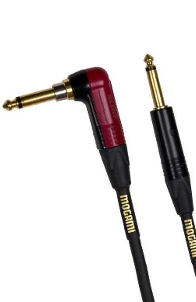 Mogami 25ft Instrument Cable - Right Angle Silent to Straight