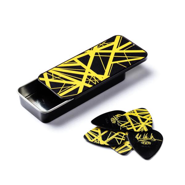 Jim Dunlop EVH VH-II Yellow Frankenstein Collectors Pick Tin