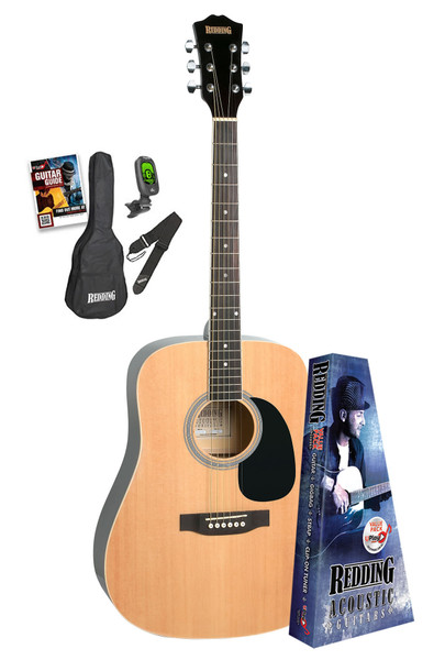 Redding Natural Gloss Acoustic Guitar Package