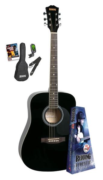 Redding Black Acoustic Guitar Package