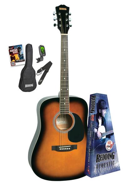 Redding Vintage Burst Acoustic Guitar Package
