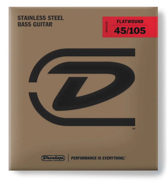 Dunlop Stainless Steel Flatwound 4-String Bass Set