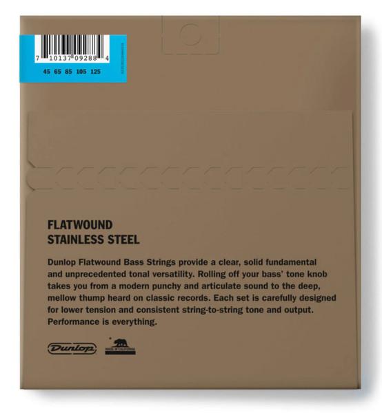 Dunlop Stainless Steel Flatwound 5-String Bass Set