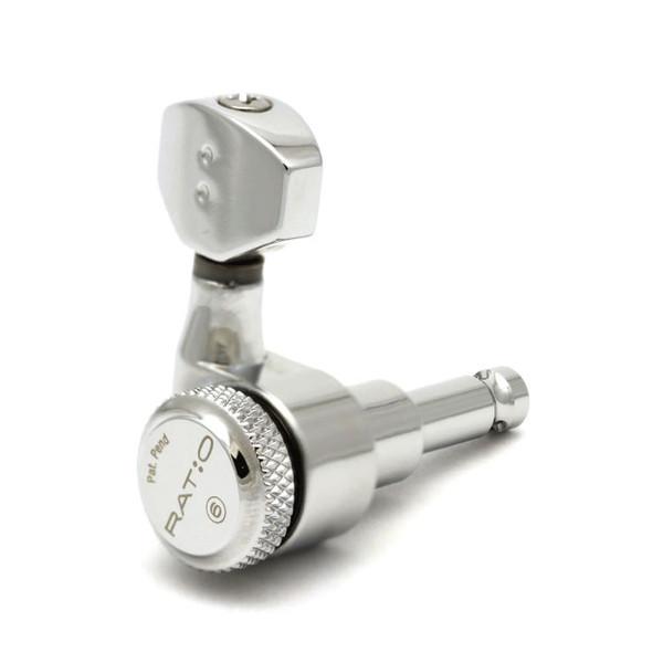 Graph Tech 6-in-line Locking Ratio Mini Contemporary Tuners - Chrome
