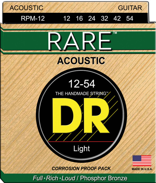 DR Rare RPM-12 Light 12-54 Acoustic Strings